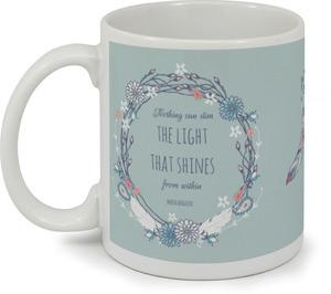 Floral Feather Encouragement Coffee Mug
