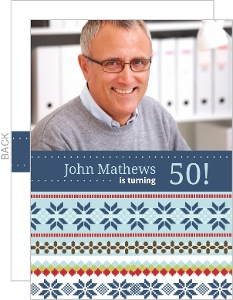 Winter Sweater Birthday Party Invite - 2838