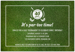 Still Swinging Golf 60Th Birthday Party Invitation