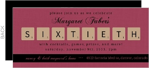 Board Game Themed 60Th Birthday Party Invitation