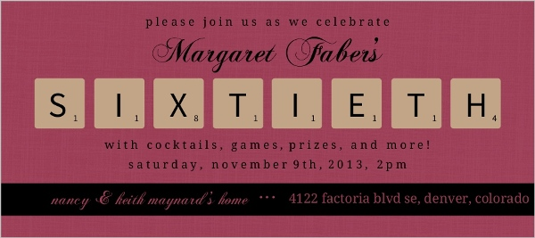 board game themed th birthday party invitation  th birthday, Birthday invitations