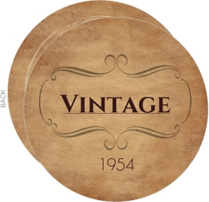 Vintage Round Birthday Invitation
