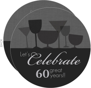 Cheers To 60 Birthday Party Invitation