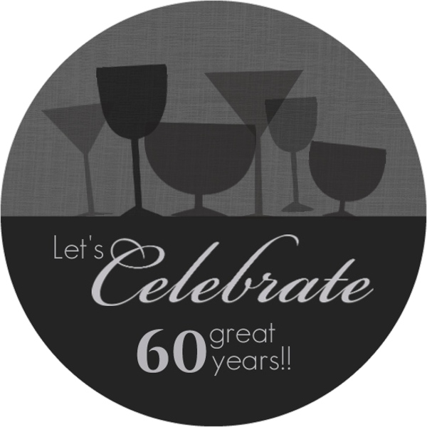 60th birthday invitations, Birthday invitations