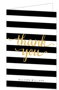 Modern Chic Thank You Card
