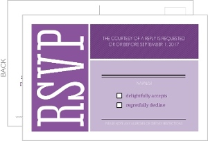 Purple Colorful Squares Hebrew Name Bat Mitzvah Card