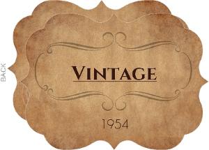 Vintage Year Date Birthday  Invitation