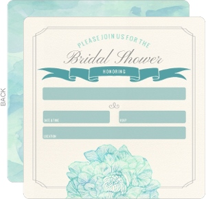 Elegant Blooms Fill In The Blank Bridal Shower Invitation