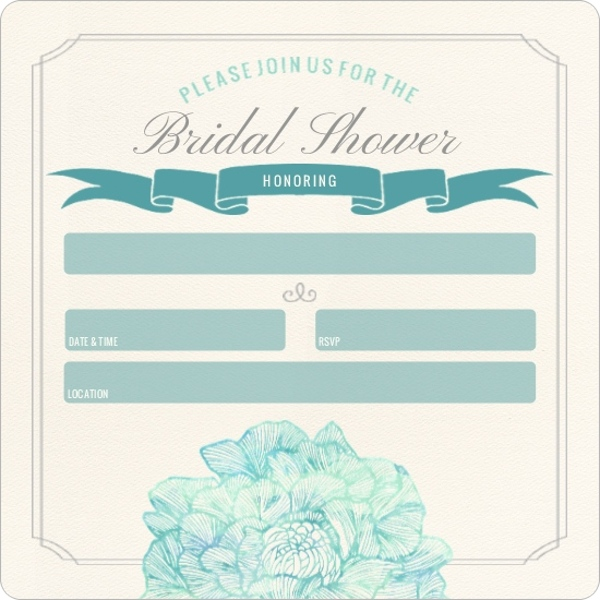 Elegant blooms fill in the blank bridal shower invitation for Bridal shower fill in invitations