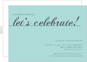 Blue Let S Celebrate Birthday Invitation - 2885