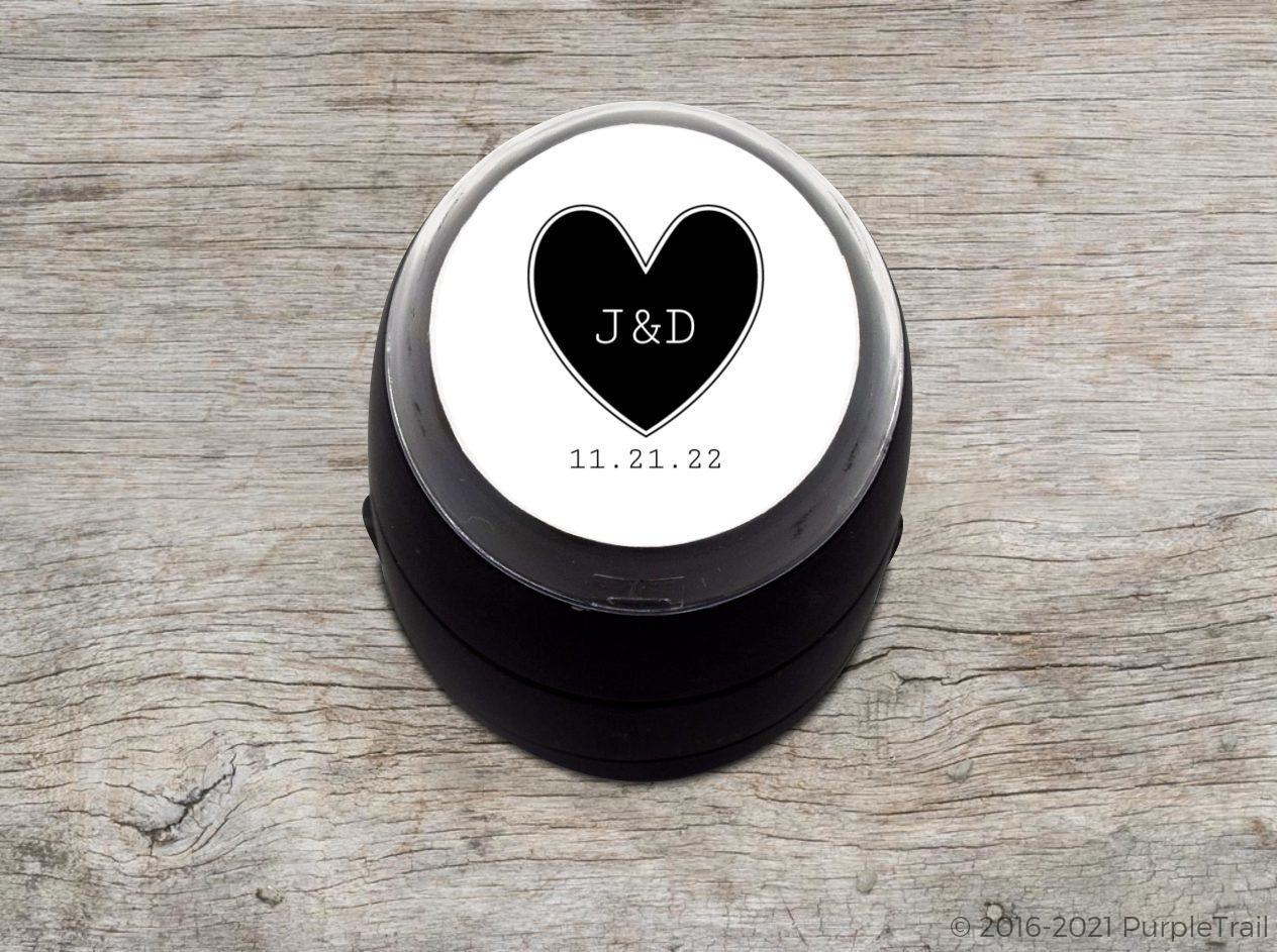 Big Heart Wedding Stamp