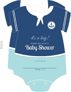 Sailor Onesie Baby Shower Invite