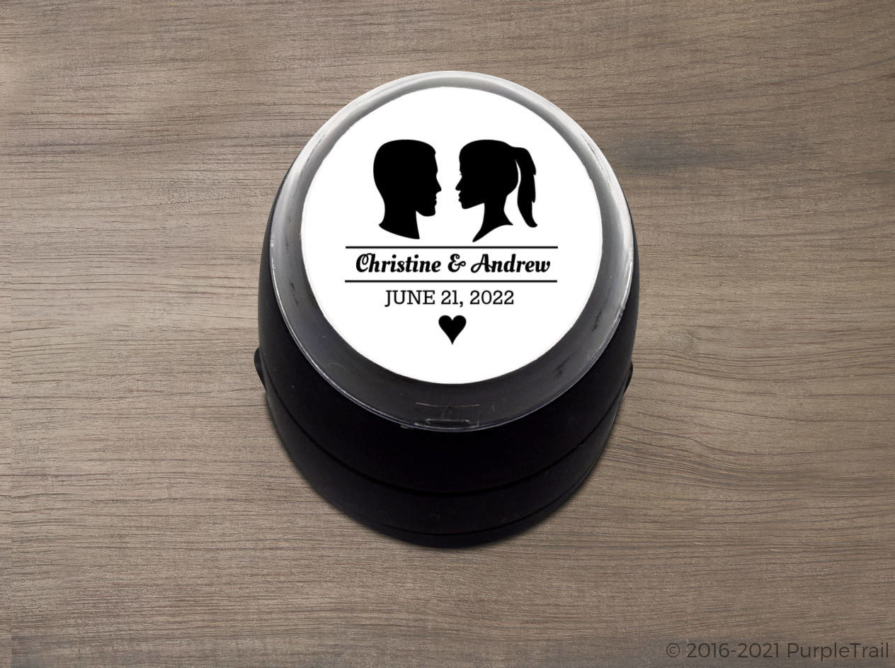 Silhouette Wedding Stamp