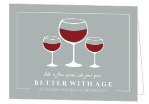 Fine Wine 60Th Birthday Invitation