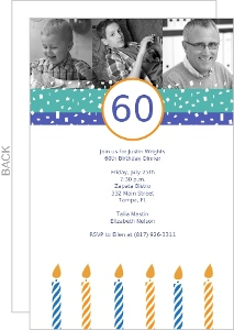 Confetti And Photo Birthday Invitation