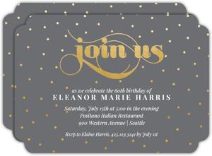Celebration Dots 60th Birthday Party Invitation