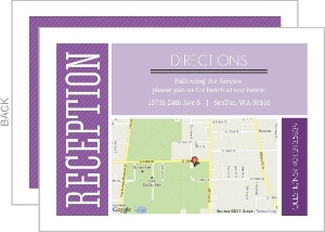 Purple Colorful Squares Hebrew Name Enclosure Card
