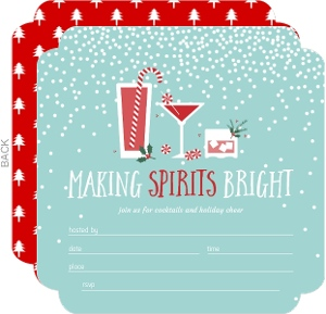 Blank Holiday Party Invitations & DIY Holiday Party Invitations