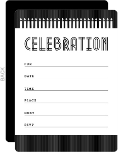Candles and Stripes Birthday Fill In The Blank Invitation