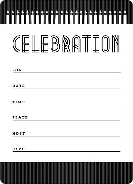 candles and stripes birthday fill in the blank invitation | blank, Birthday invitations
