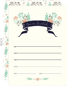Floral Woodlands Fill In The Blank Invitation