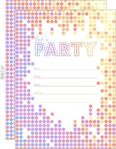 Colorful Lets Party Fill In The Blank Invitation