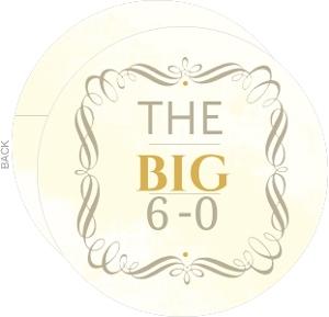 Vintage Big 6-0 Birthday Invitation