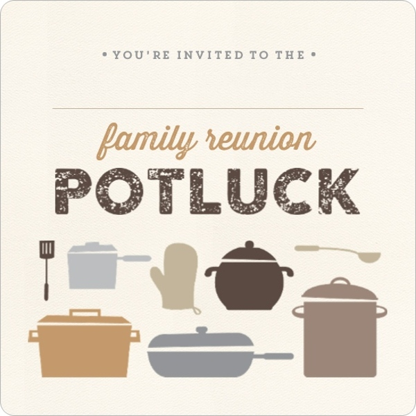 Neutral Colored Potluck Fill In The Blank Family Reunion