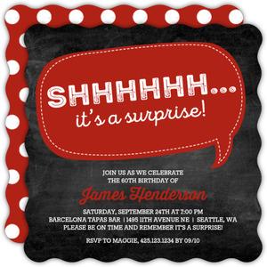 Speech Bubble Surprise 60th Birthday Invitation