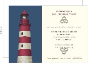 Lighthouse 60Th Birthday Invitation