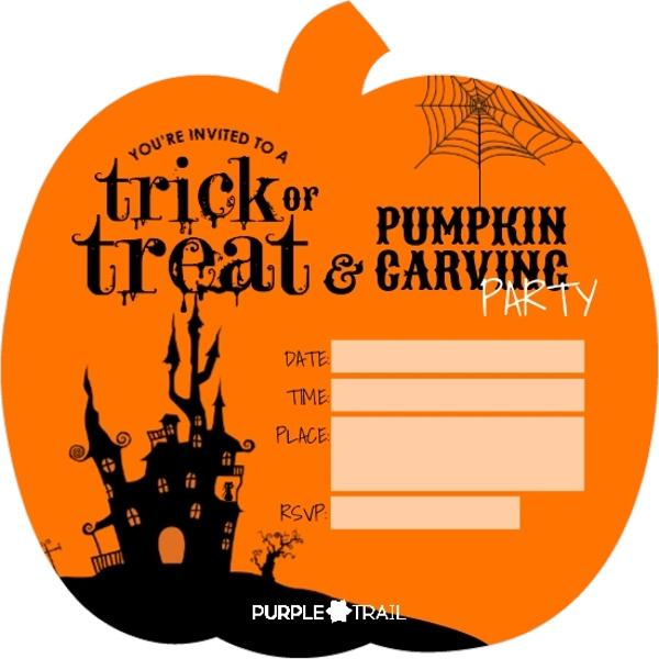 halloween party invitation blank