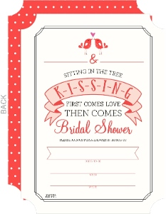 K-I-S-S-I-N-G Bridal Shower Fill-in-the-blank Invitation