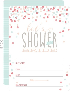 Cute Confetti Bridal Shower Fill In Invitation