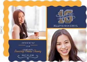 Blue and Gold Graduation Announcement