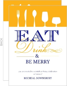 Eat Drink Be Merry Birthday Party