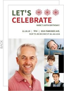 Baby Photos Holiday 60Th Birthday Invitation