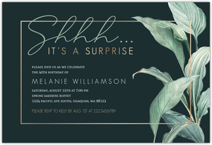 Top Secret Surprise Birthday Invitations