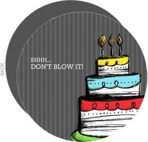 Dont Blow It Cake Surprise Party Invitation