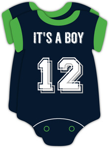 Seahawks Game Day Onesie Couples Baby Shower