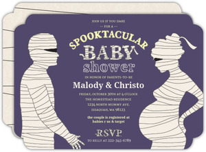 Bandaged Spooktacular Mummy Baby Shower Invitation