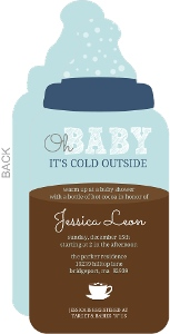 Oh Baby Bottle Shower invitation