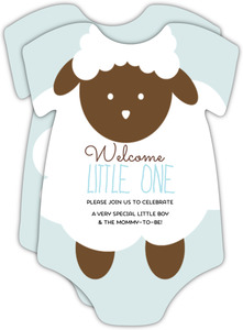 Little Lamb Baby Shower Invite
