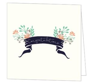 Floral Woodlands Congratulations Greeting Card