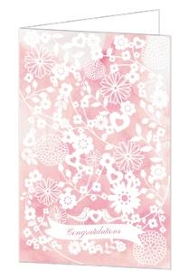 Watercolor Floral Congratulations Greeting Card