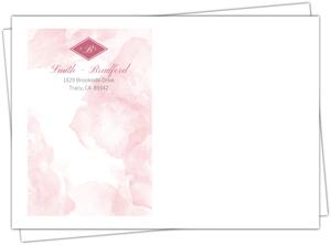Delicate Pink Watercolor Envelope