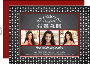 Chalk Geometric Pattern Graduation Announcement