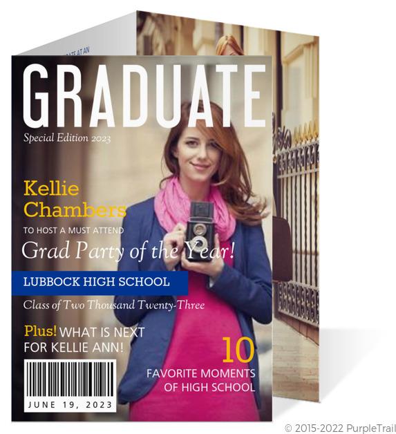 front cover magazine graduation invitation - Photo Graduation Invitations