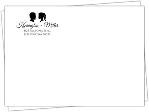 Glamorous Silhouette Wedding Envelope