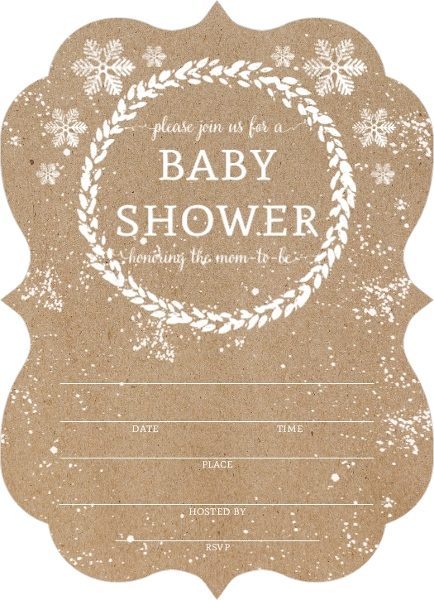 kraft snowfall fill in the blank babyshower invitation