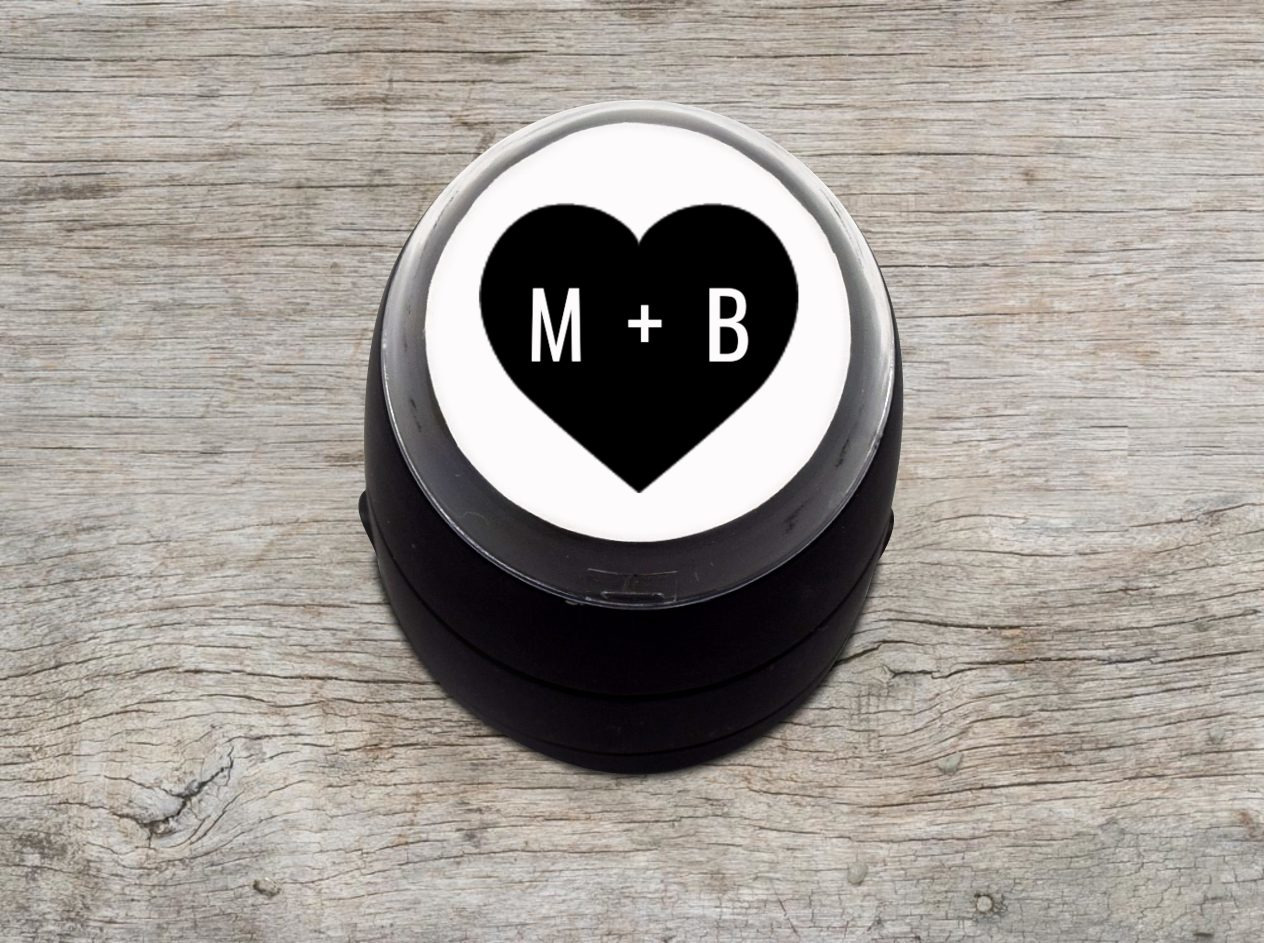 Heart Filled Initials Stamp